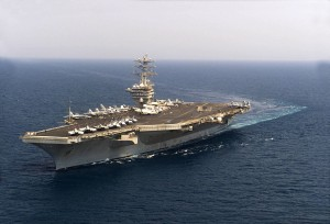 USA Secretary of State - US nimitz ship