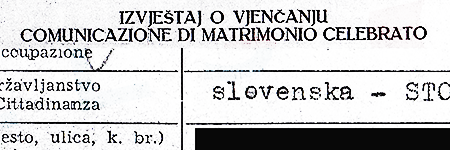 Marriage certificate, example n.1 – click to read