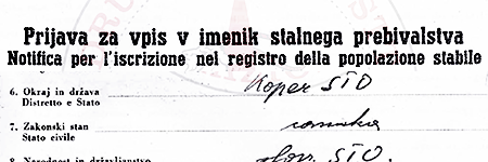 Registration to the civil registry, example n.1 – click to read