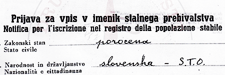 Registration to the civil registry, example n.2 – click to read