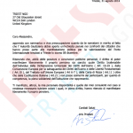 Letter from the Deputy (of the Italian parliament) Prodani