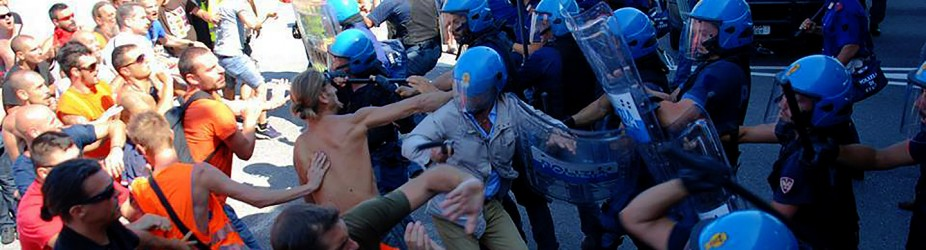 Trieste Free Port workers on strike for International law: the Italian government sends police